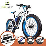 RICH BIT® TP012 1000 W E-Bike eBike Cruiser Fahrrad Radfahren 48 V 17 Ah hohe Kapazität Akku 21speed 7 Gänge