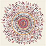 Posterlounge Cuadro sobre Lienzo 50 x 50 cm: Sunflower Mandala de Janet Broxon - Cuadro Terminado, Cuadro sobre Bastidor, lámina terminada sobre Lienzo auténtico, impresión en Lienzo