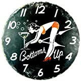 RELOJ DE PARED DISENO BOTTOMS UP PIN UP GIRL RELOJ DE LA COCINA - 30CM - CUARZO - MODERNO NUEVO – Tinas Collection