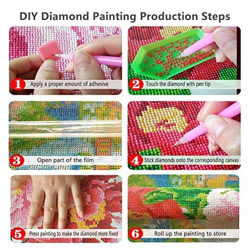 61dyJVbzikL - Kit de Pintura de Diamantes 5D completo,Diy 5d diamond painting perros Punto de Cruz de Resina, decoración del hogar para Salones o dormitorios Disney 30 x 40 cm