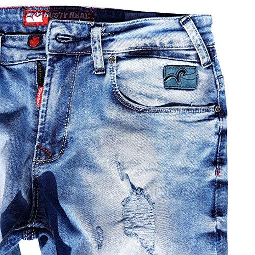 R-Neal Denim Mix136 Herrenhose Kurze Hose Jeans Vintage Destroyed Bermuda Shorts 13604