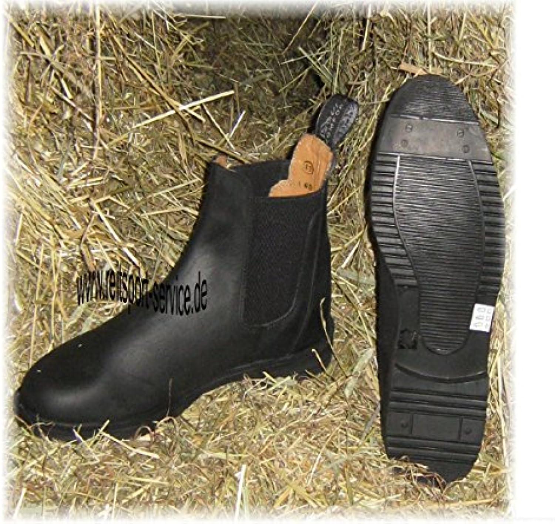 Lederzugstiefelette, schwarz, 42  - Zapatos de moda en línea Obtenga el mejor descuento de venta caliente-Descuento más grande