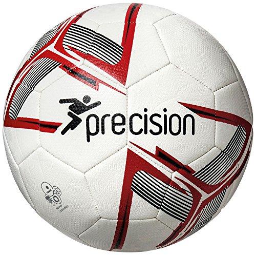 Precision Fusion IMS-Balón de fútbol, Blanco, Rojo y Negro, Talla 4