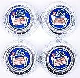 4 Vintage Buttermilk Eby's Dairy Farm Pasteurized Foil Milk Bottle Cap NOS 60s