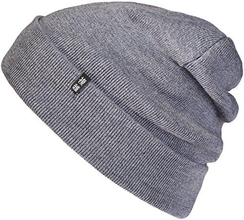 Enter the Complex Winter Mütze, Warme Woll-Beanie, 100% Merino, Damen und Herren, Dunkel Grau