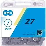 """KMC Uniseks - Volwassenen Z7 7-voudige ketting 1/2"""" x3/32, 116 schakels, grijs/bruin"""