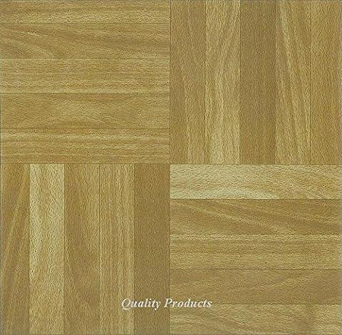 88 x Vinyl Floor Tiles - Self Adhesive - Kitchen / Bathroom, Sticky - Brand New - Square Wood Effect (2573)