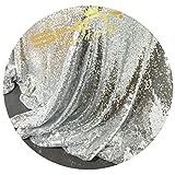 Silber Pailletten-Stoff durch das Messgerät Pailletten