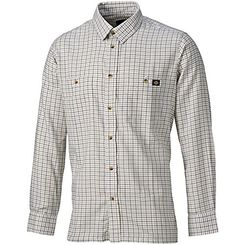Dickies Holzfällerhemd Tattersal, 1 Stück, M, gelb / grün, 7510 YLG M (Gelb-oxford-hemden)