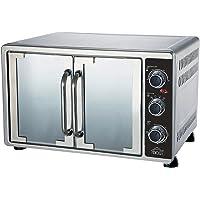 DCG Eltronic MBS58 Four électrique ventilé à double porte 58 L Acier inoxydable Argenté avec thermostat réglable…