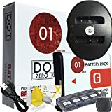 DOT-01 Brand 1400 MAh Replacement Sony NP-BG1 Battery And Dual Slot USB Charger For Sony DSC-W300 Digital Camera And Sony BG1 Accessory Bundle