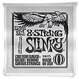 Ernie Ball Slinky 8- Saiter Nickel Wunde E- Gitarre Saiten - 10-74 Gauge