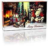 Tee - Adventskalender (ROT) mit 24 verschiedenen winterlichen und aromatischen Tee Sorten.