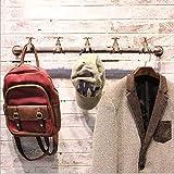 Stand MEIDUO Garderobe aus Eisen  Wasserhahn Form  Schlauch-Kleidungs-Ausstellungsstand der Weinlese industrieller  L72CM sehr langlebig (Farbe : Rostfarbe)