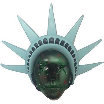 The Rubber Plantation TM 619219304436The Purge anno elettorale LED maschera con fascia per festival Halloween costume Fancy Dress (Light Up Liberty), unisex, taglia unica