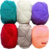 #4: Vardhman Bunny Mix Wool Ball Hand Knitting Yarn / Art Craft Soft Fingering Crochet Hook Yarn, Needle Knitting Yarn Thread Dyed 3Rd...
