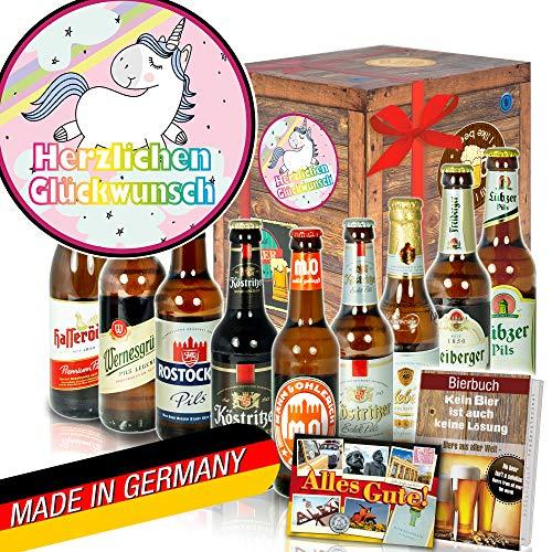 Herzlichen Glückwunsch Einhorn - Geburtstagswünsche - Biere aus Ostdeutschland