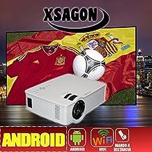 proyector mod L280 con Android, Wifi, HDMI, USB,SD, AC3, 2 años de garantía