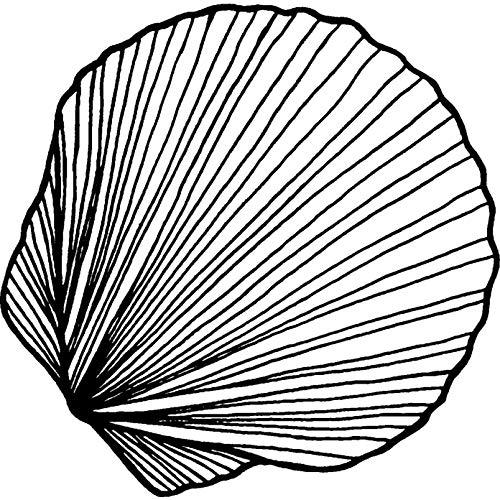 Azeeda A7 'Conchiglia' Timbro di Gomma Non Montato (RS00000919)