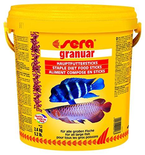 sera 00418 granuar 2,4 kg (10 l) - Hauptfutter für Großfische wie Arowanas, Großcichliden