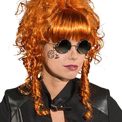 Amakando Nickelbrille Karneval Brille Punker Sonnenbrille Punk Retro Brillengestell Kostümzubehör Steampunk Brille