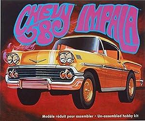 Round 5 Amt amt9461: 25Escala Kit de Modelo 1958Chevy Impala plástico en Oro.