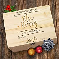 TWISTED ENVY Lapland Express Delivery Personalised Santa's Christmas Engraved Box