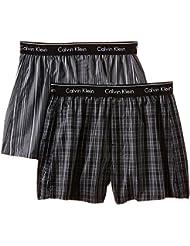 Calvin Klein underwear Herren Boxershort WOVEN BOXER - 2P TRAD FIT BOXER Gr. X-Large (Herstellergröße: XL) Mehrfarbig (LARK PLAID ATALNTIS - GALLAGH LGW)