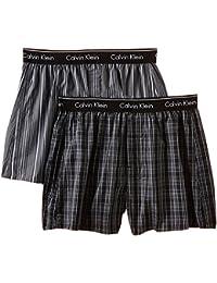 Calvin Klein Herren Boxershort WOVEN BOXER - 2P TRAD FIT BOXER Gr. X-Large (Herstellergröße: XL) Mehrfarbig (LARK PLAID ATALNTIS - GALLAGH LGW)