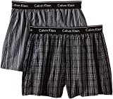 Calvin Klein Herren Boxershort WOVEN BOXER - 2P TRAD FIT BOXER, Mehrfarbig (Breslin Pld Blk - Gallahger S Kgw), X-Large