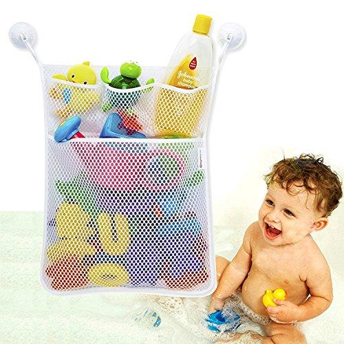 Bad Spielzeug Organizer mehrere Taschen + Bonus von 3 Robust Lock Saugnäpfe und strapazierfähig schimmelresistente Mesh waschbar + Garantie …