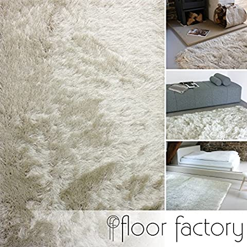 Alfombra de Pelo Largo Prestige beige crema 120x170 cm - alfombra blanda extra larga