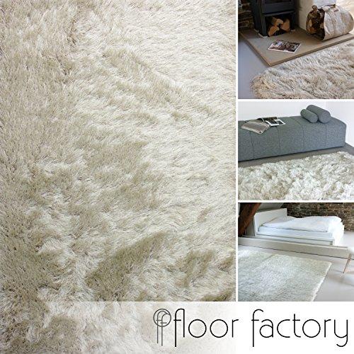 Floor factory tappeto shaggy pelo lungo prestige beige crema 80x150 cm - tappeto morbido extra lungo