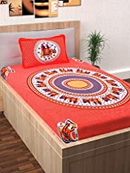 Story at Home Single Bedsheet, Red, 225cm X 235cm, Fy1506