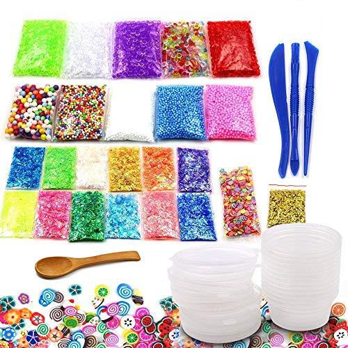 Halloween Zubehör Hausgemachte - IDABAY 40 Pack Slime Making Kit