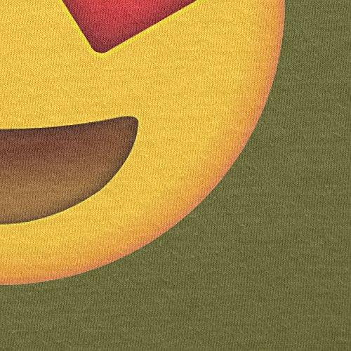 Texlab–Heart Eyes Emoji–sacchetto di stoffa Oliva