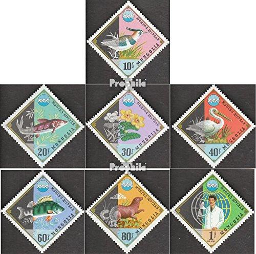 Prophila Collection Mongolei 901-907 (kompl.Ausg.) 1974 Umweltschutz (Briefmarken für Sammler) Vögel