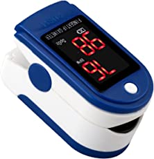 ULTNICE Fingertip Pulse Oximeter Blood Oxygen Saturation Monitor SpO2 Sports and Aviation Monitor (Blue)