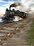 Aaloolaa fotografia sfondo foto sfondo vintage Steam Train Track a tema gocce amanti Boy Girl child Kid Baby Portrait Old Railway Traffic scene puntelli per riprese video studio 0,9x 1,5m vinile - Aaloolaa - amazon.it
