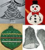8 Agarraderas de Navidad de ganchillo