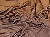 Zwei Ton Slinky Diablo Stretch Jersey Knit Kleid Stoff Kupfer–Meterware