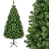 HOMFA 210cm Künstlicher Weihnachtsbaum Tannenbäume Christbaum mit Metallständer 1200 Spitzen schwer entflammbare Materialien Außen/Innen Weihnachtsdeko (Tannenbaum 210cm)