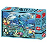 Howard Robinson Reef Sharks Super 3D Puzzle (500 Teile, Mehrfarbig).