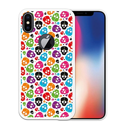 iPhone X Hülle, WoowCase Handyhülle Silikon für [ iPhone X ] Rock Star Handytasche Handy Cover Case Schutzhülle Flexible TPU - Schwarz Housse Gel iPhone X Transparent D0100