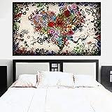 XIAOXINYUAN Mehrere Blume Kombiniert in Herz Liebe Kunst Abstrakte Ölgemälde auf Leinwand Wand Kunst Bild Drucken Sofa Home Dekor 20 X 30 cm Ungerahmt