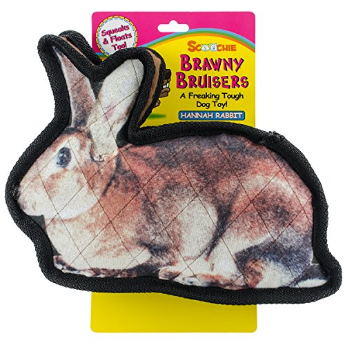 scoochie-pet-products-brawny-bruisers-hannah-rabbit-dog-toy-11-inch