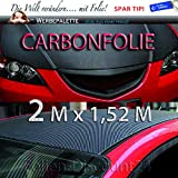 (EUR 3,75 / Quadratmeter) Carbonfolie 3D Blasenfrei Kleben Luftkanäle Trocken 200 x 152 cm Carbon Struktur fühlbar Dekor Preis Tip Premium Folie