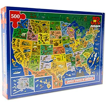 USA Map Jigsaw Puzzle by James Hamilton Grovely Amazoncouk