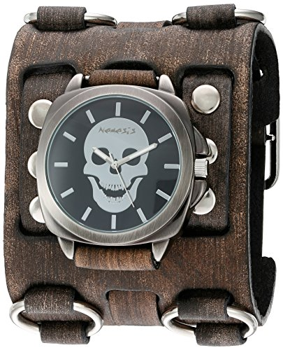 Nemesis Unisex-Adult Analogue Japanese-Quartz Watch with Patent Leather Strap FWB935K