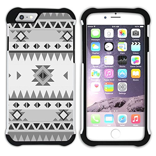Graphic4You COLORFUL TRIBAL Muster Hart + Weiche Kratzfeste Hülle Case Schale Tasche Schutzhülle für Apple iPhone 6 Plus / 6S Plus Design #8